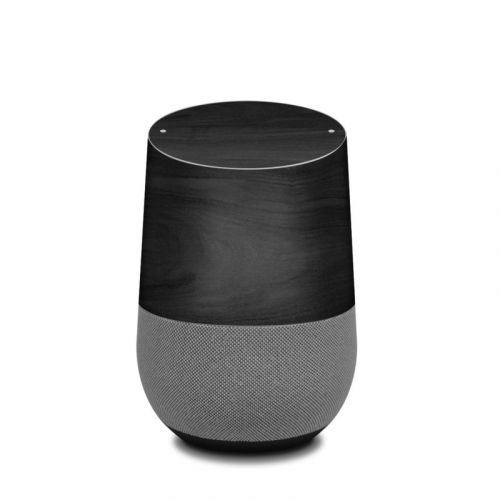 Black Woodgrain Google Home Skin