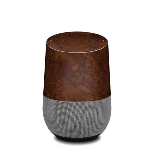 Dark Burlwood Google Home Skin