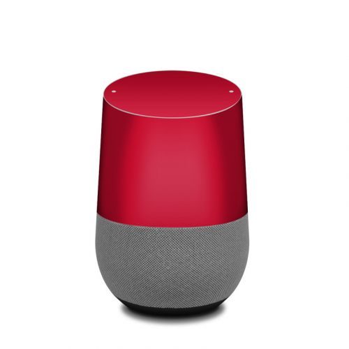 Solid State Red Google Home Skin