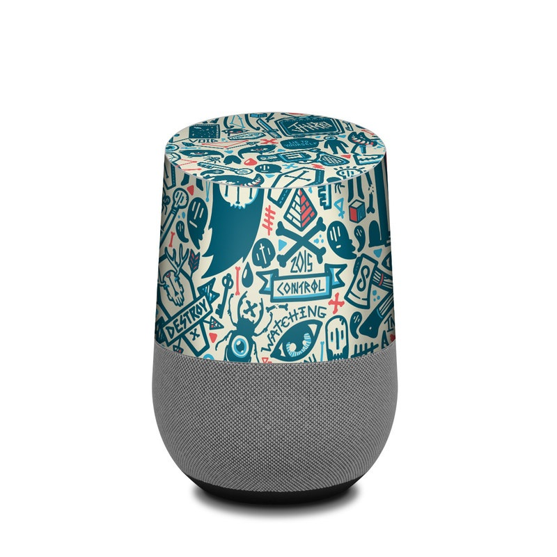 Google Home Skin design of Pattern, Psychedelic art, Turquoise, Art, Design, Visual arts, Line, Drawing, Doodle, Graphic design with white, green, blue, red colors