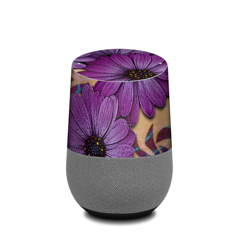 Daisy Damask Google Home Skin