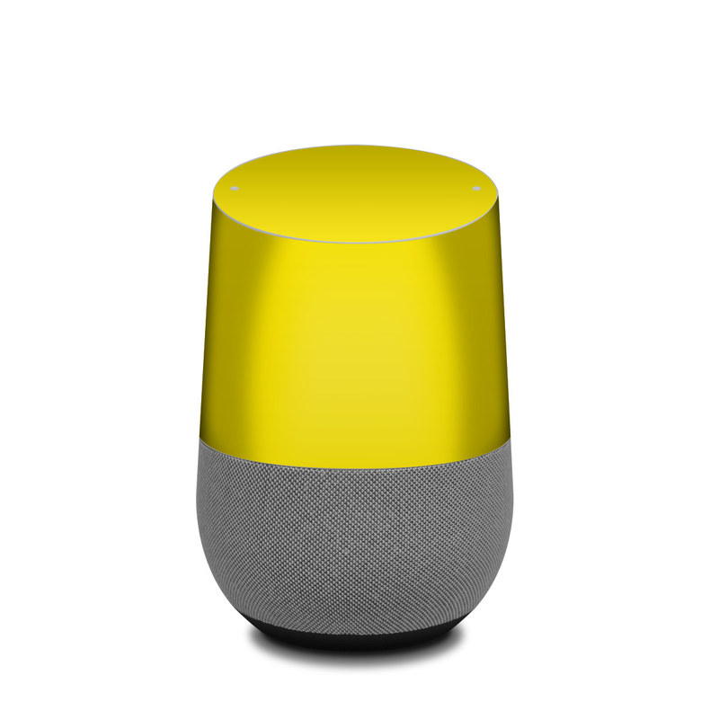 Solid State Yellow Google Home Skin