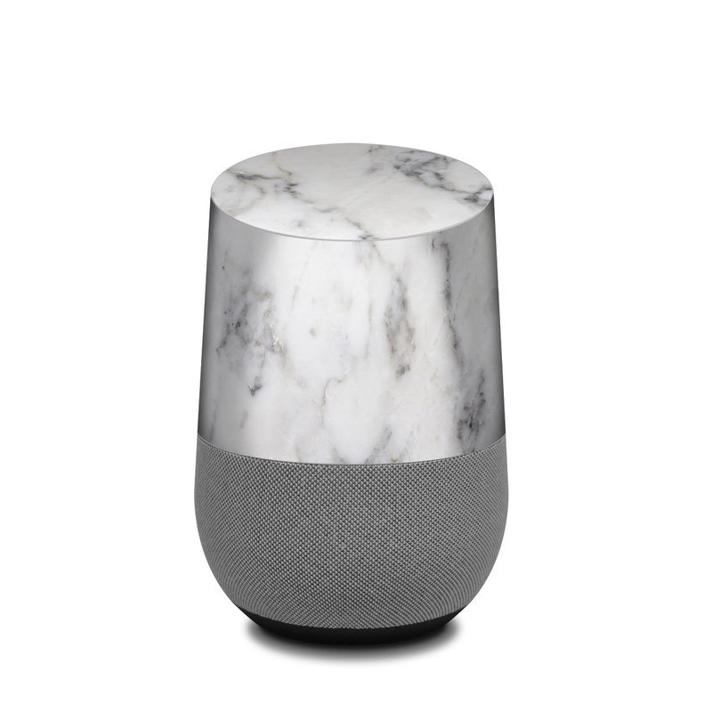 White Marble Google Home Skin