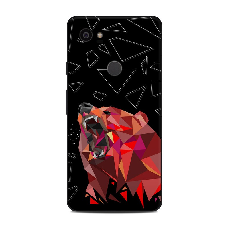 Google Pixel 2 XL Skin design of Graphic design, Triangle, Font, Illustration, Design, Art, Visual arts, Graphics, Pattern, Space with black, red colors