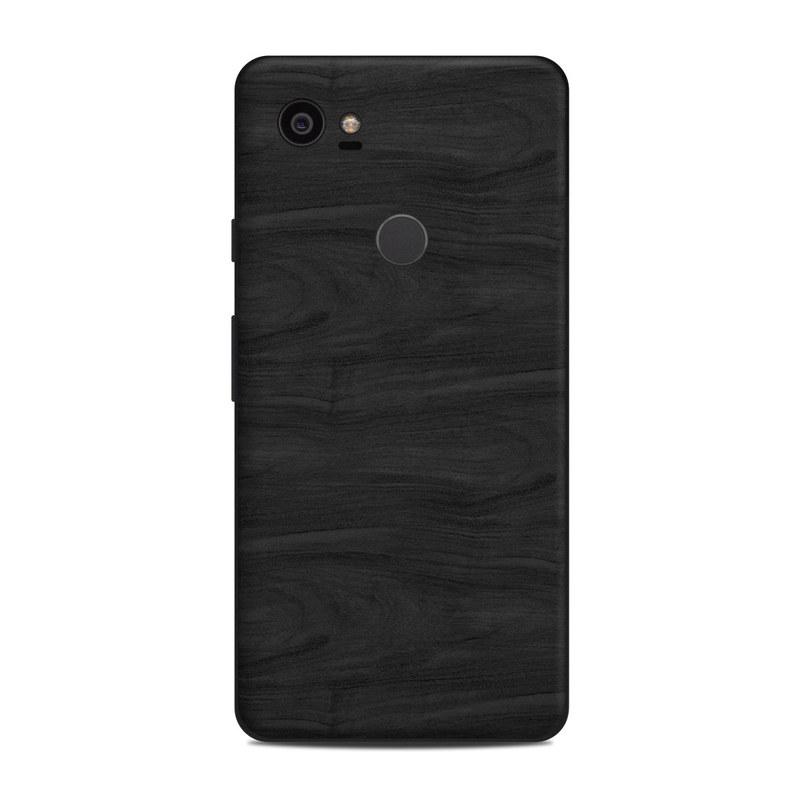 Black Woodgrain Google Pixel 2 XL Skin