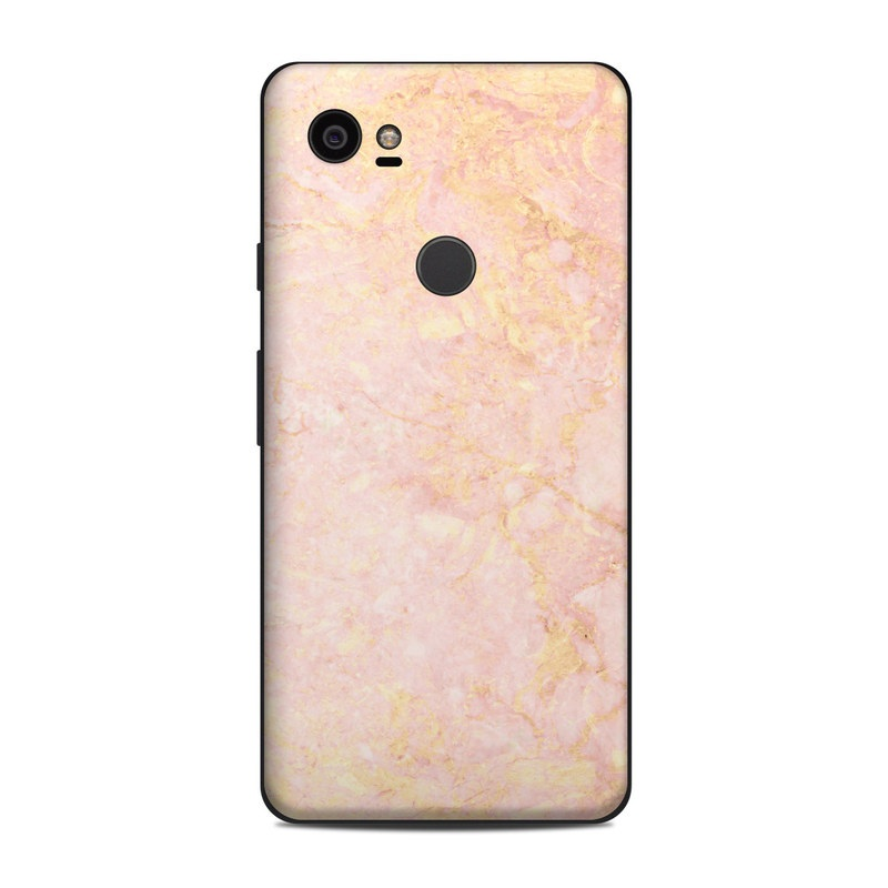 Google Pixel 2 XL Skin design of Pink, Peach, Wallpaper, Pattern with pink, yellow, orange colors