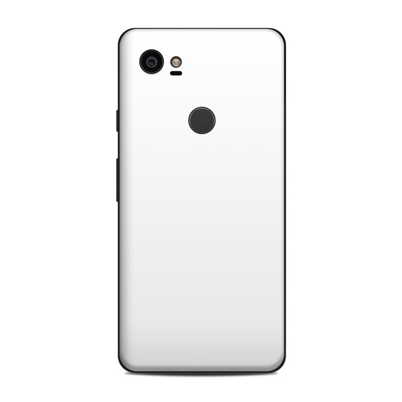 Google Pixel 2 XL Skin design of White, Black, Line with white colors