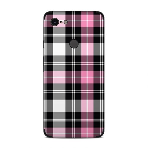 Pink Plaid Google Pixel 3 XL Skin