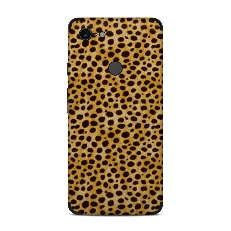 Google Pixel 3 XL Skin design of Pattern, Felidae, Design, Close-up, Wildlife, Mesh, Metal with yellow, black colors