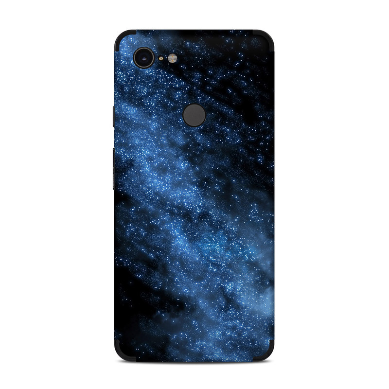 Google Pixel 3 XL Skin design of Sky, Atmosphere, Black, Blue, Outer space, Atmospheric phenomenon, Astronomical object, Darkness, Universe, Space with black, blue colors