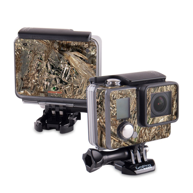 GoPro Hero Skin design of Soil, Plant with black, gray, green, red colors