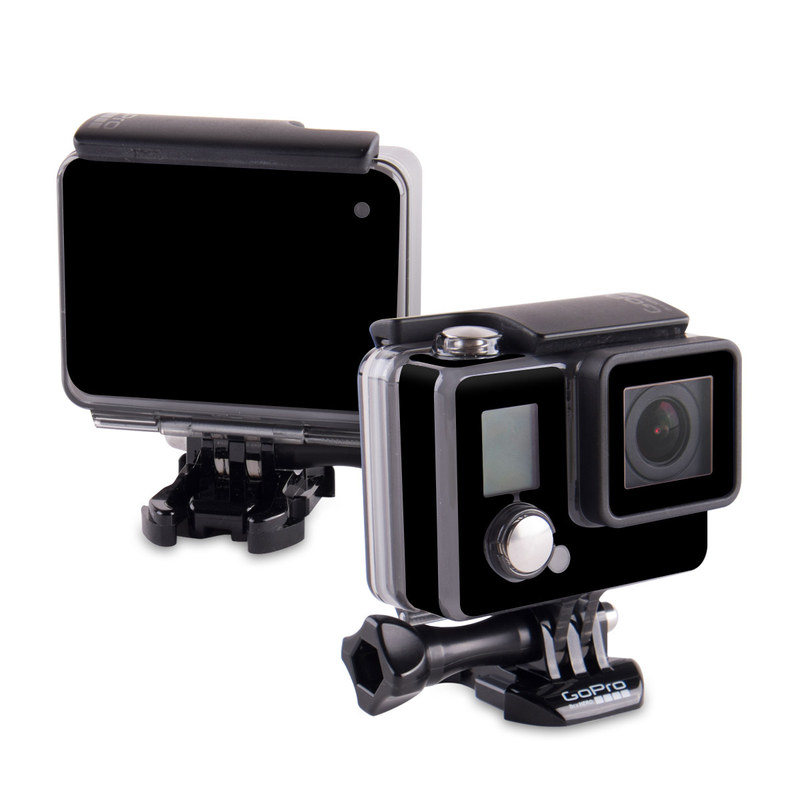 GoPro Hero Skin design of Black, Darkness, White, Sky, Light, Red, Text, Brown, Font, Atmosphere with black colors