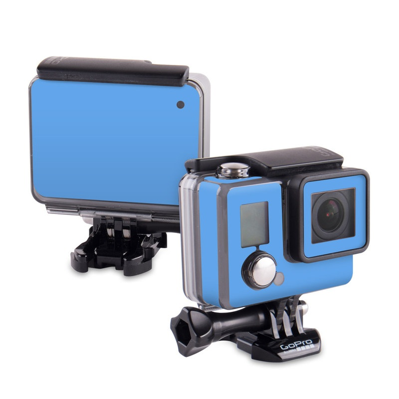 Solid State Blue GoPro Hero Skin