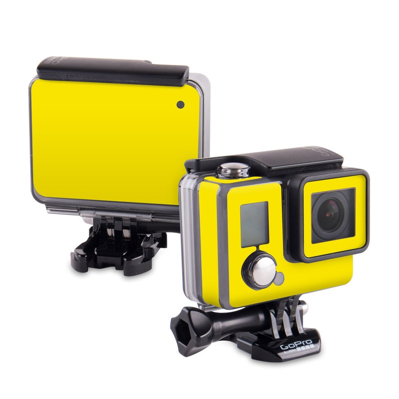 Solid State Yellow GoPro Hero Skin