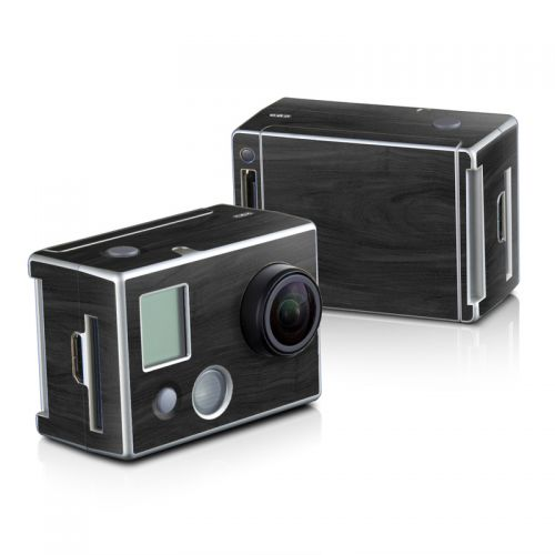 Black Woodgrain GoPro HD Hero 2 Skin