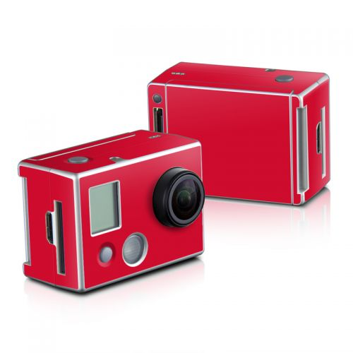 Solid State Red GoPro HD Hero 2 Skin