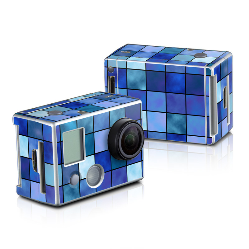 Blue Mosaic GoPro HD Hero 2 Skin