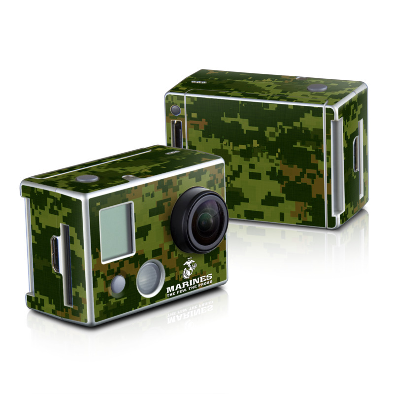 GoPro HD Hero2 Skin design of Green, Military camouflage, Font, Pattern, Design, Tree, Logo, Camouflage, Illustration, Plant with black, gray, white colors