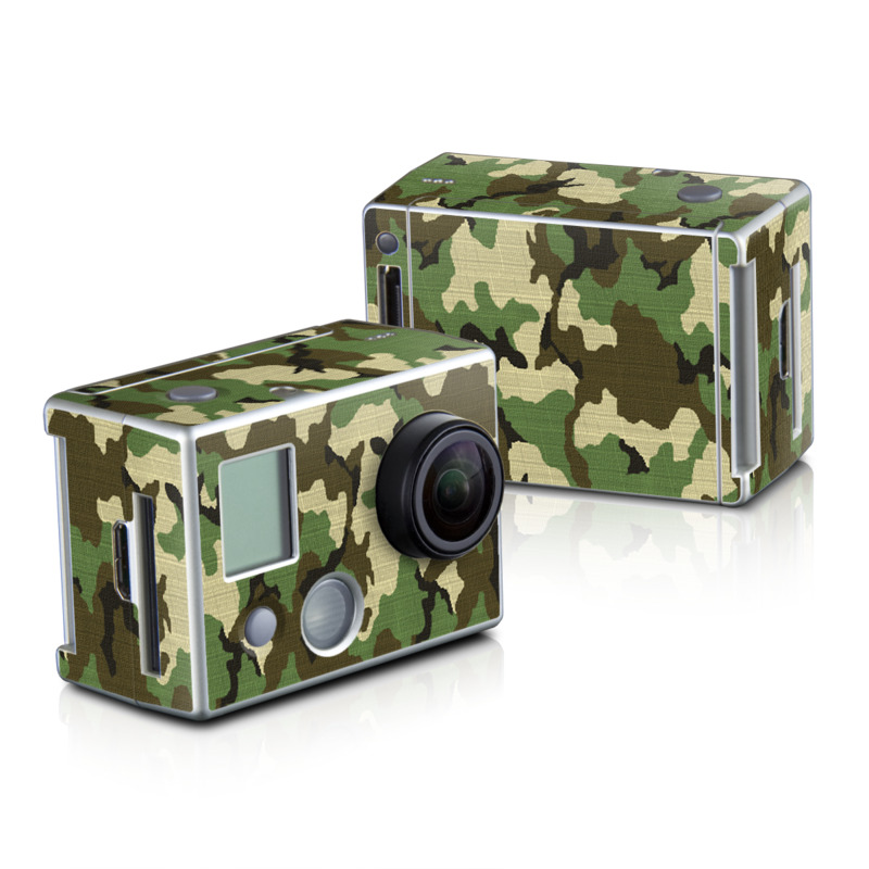 Woodland Camo GoPro HD Hero 2 Skin