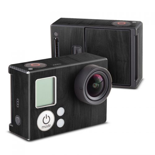 Black Woodgrain GoPro Hero3 Skin