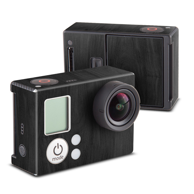 GoPro Hero3 Skin design of Black, Brown, Wood, Grey, Flooring, Floor, Laminate flooring, Wood flooring with black colors
