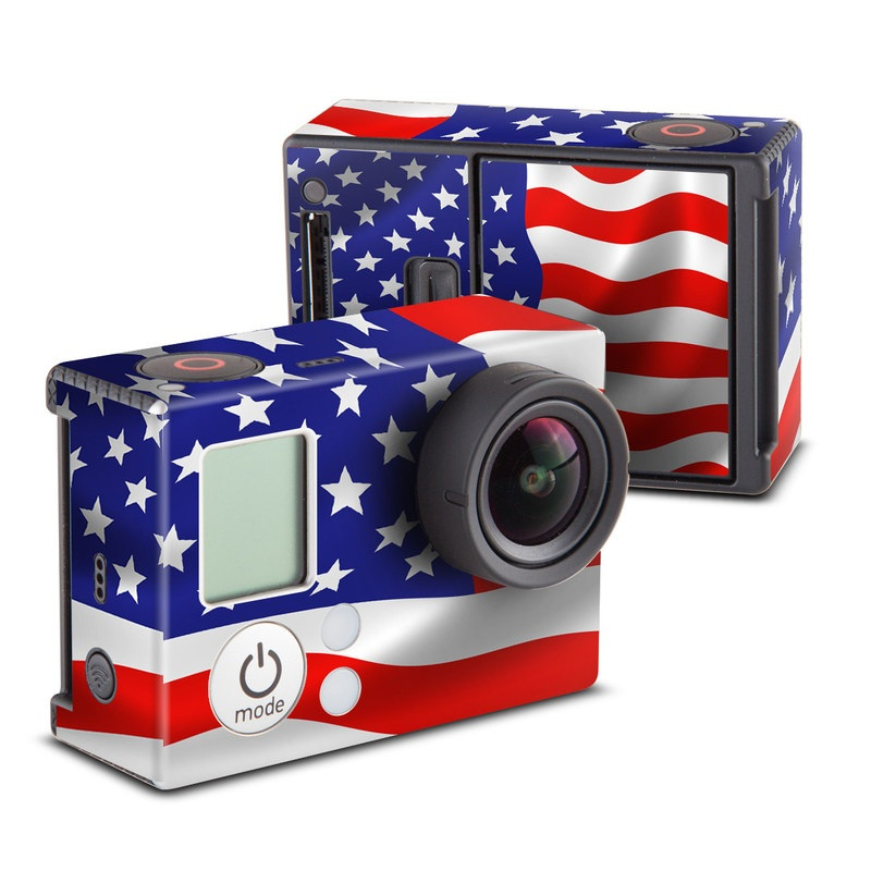 USA Flag GoPro Hero3 Skin