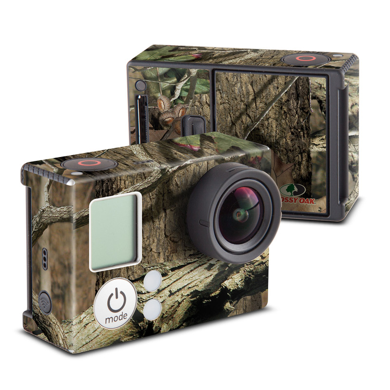 GoPro Hero3 Skin design of Tree, Military camouflage, Camouflage, Plant, Woody plant, Trunk, Branch, Design, Adaptation, Pattern with black, red, green, gray colors