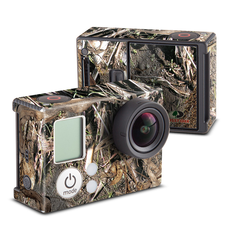 GoPro Hero3 Skin design of Soil, Plant with black, gray, green, red colors