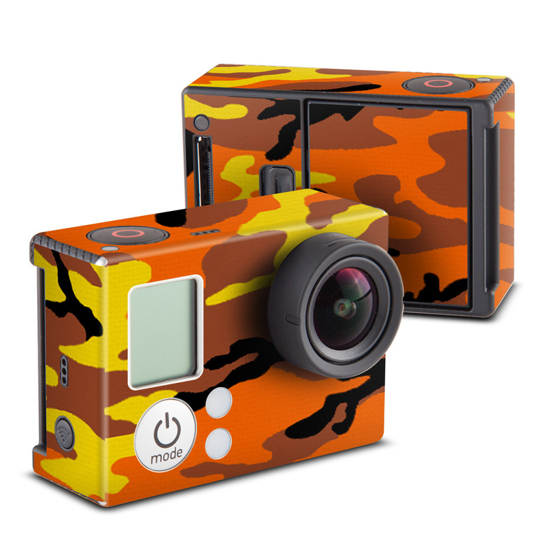 Orange Camo GoPro Hero3 Skin