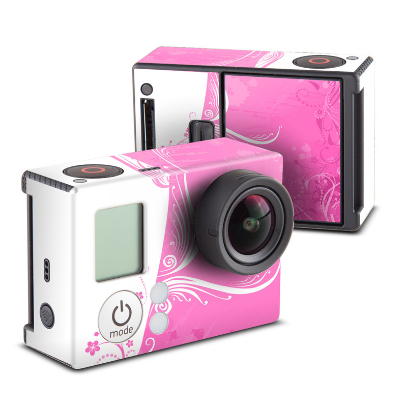 GoPro Hero3 Skin design of Pink, Pattern, Magenta, Design, Visual arts, Wallpaper, Paisley, Floral design, Ornament, Motif with pink, white, purple colors