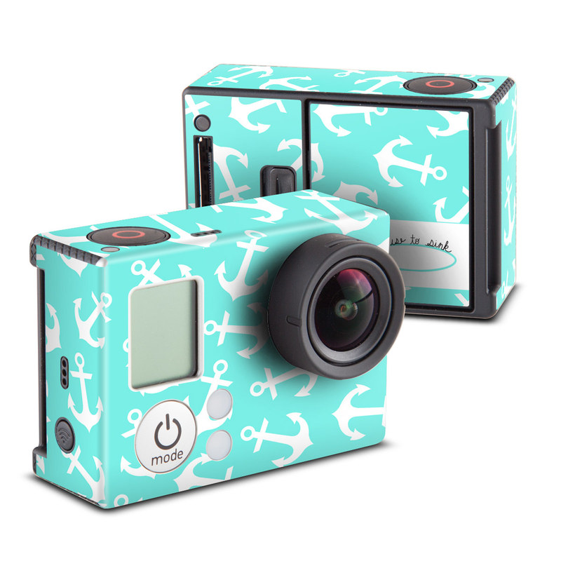 GoPro Hero3 Skin design of Text, Turquoise, Aqua, Font, Teal, Pattern, Line, Design, Illustration with gray, white, blue, green colors