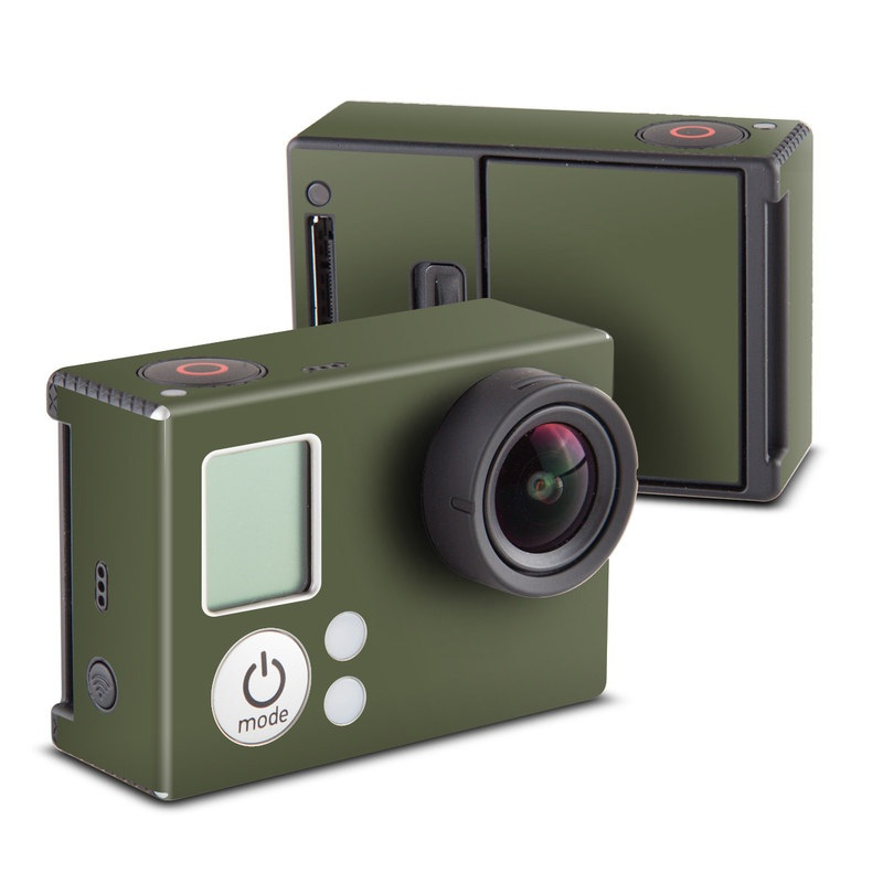 GoPro Hero3 Skin design of Green, Brown, Text, Yellow, Grass, Font, Pattern, Beige with green colors