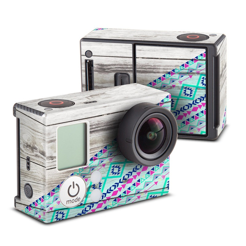 GoPro Hero3 Skin design of Turquoise, Pattern, Pink, Line, Magenta, Parallel with gray, blue, purple colors