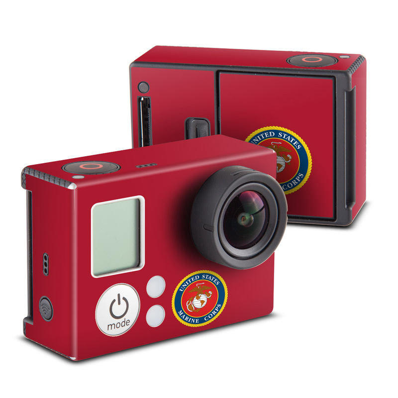 USMC Red GoPro Hero3 Skin