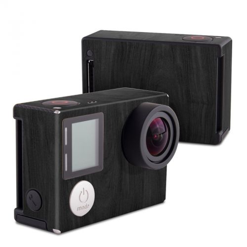 Black Woodgrain GoPro Hero4 Black Edition Skin