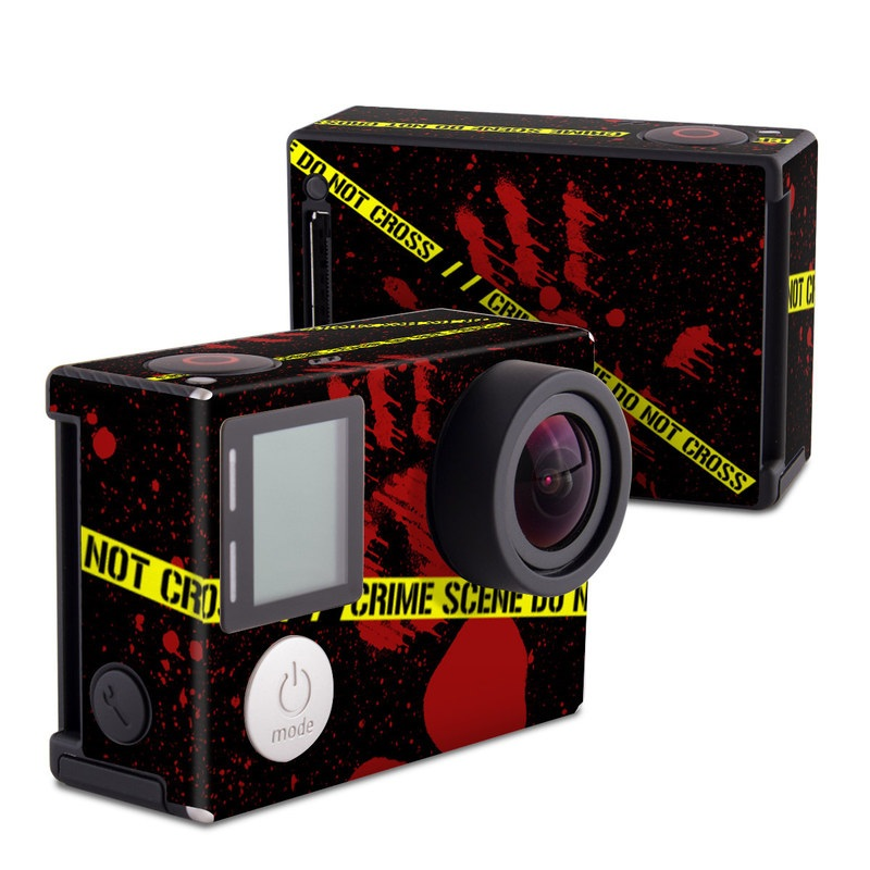 GoPro Hero4 Black Edition Skin design of Red, Black, Font, Text, Logo, Graphics, Graphic design, Room, Carmine, Fictional character with black, red, green colors