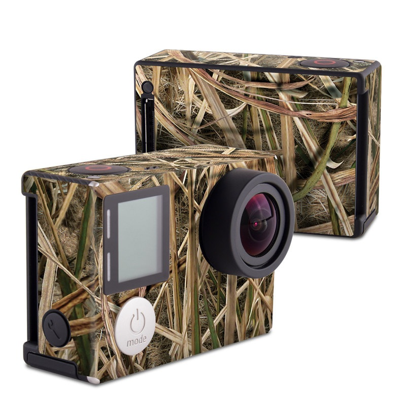 GoPro Hero4 Black Edition Skin design of Grass, Straw, Plant, Grass family, Twig, Adaptation, Agriculture with black, green, gray, red colors