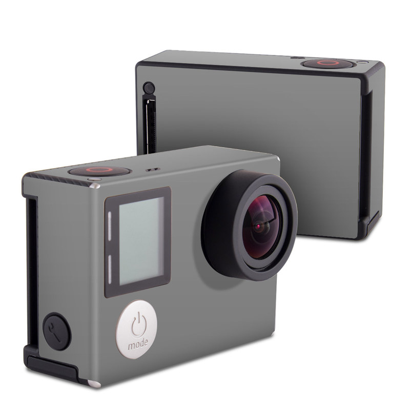 Solid State Grey GoPro Hero4 Black Edition Skin