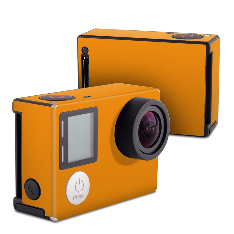 Solid State Orange GoPro Hero4 Black Edition Skin