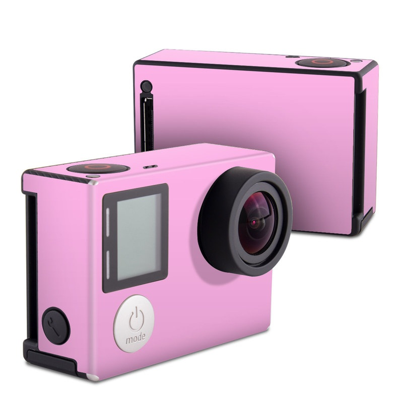 GoPro Hero4 Black Edition Skin design of Pink, Violet, Purple, Red, Magenta, Lilac, Sky, Material property, Peach with pink colors