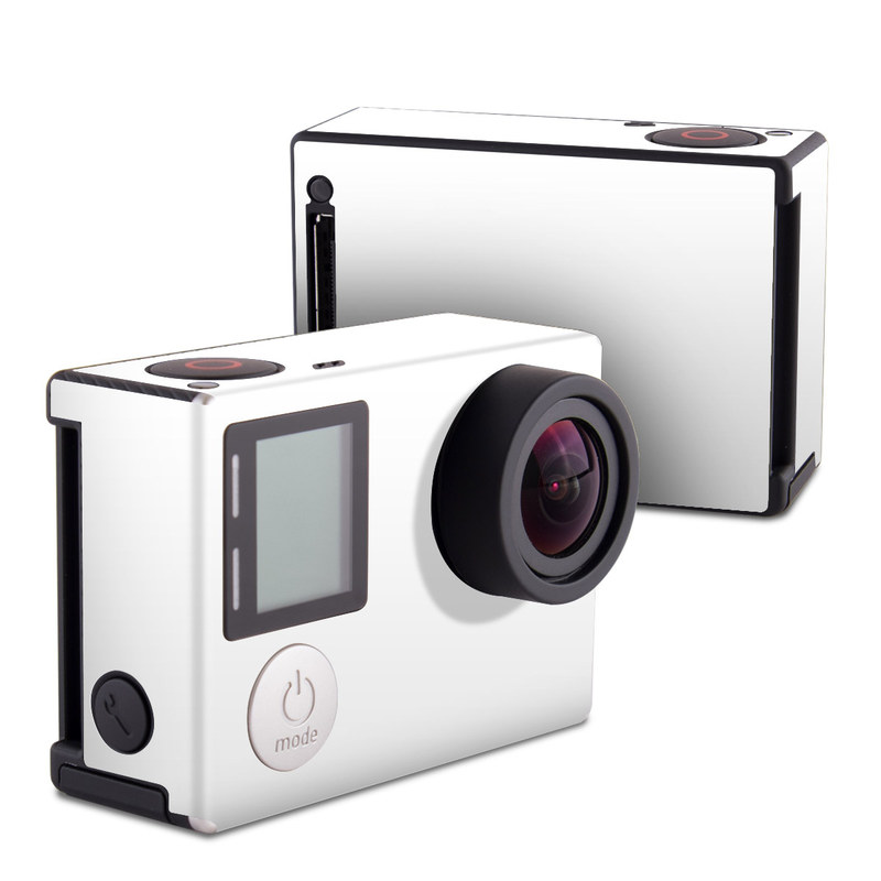 GoPro Hero4 Black Edition Skin design of White, Black, Line with white colors