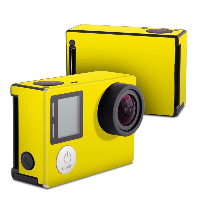 Solid State Yellow GoPro Hero4 Black Edition Skin