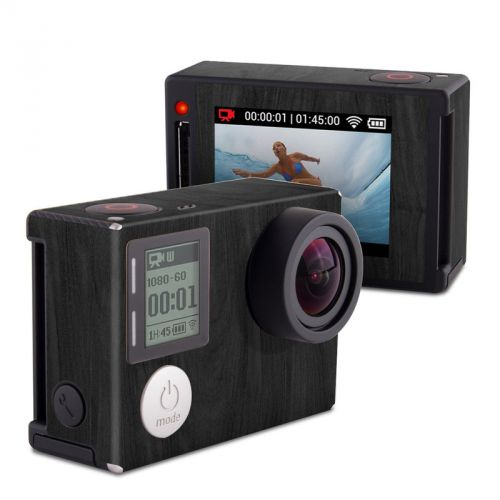 Black Woodgrain GoPro Hero4 Silver Edition Skin