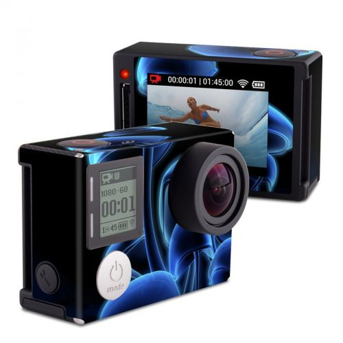 Fluorescence Blue GoPro Hero4 Silver Edition Skin
