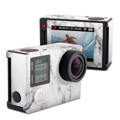White Marble GoPro Hero4 Silver Edition Skin