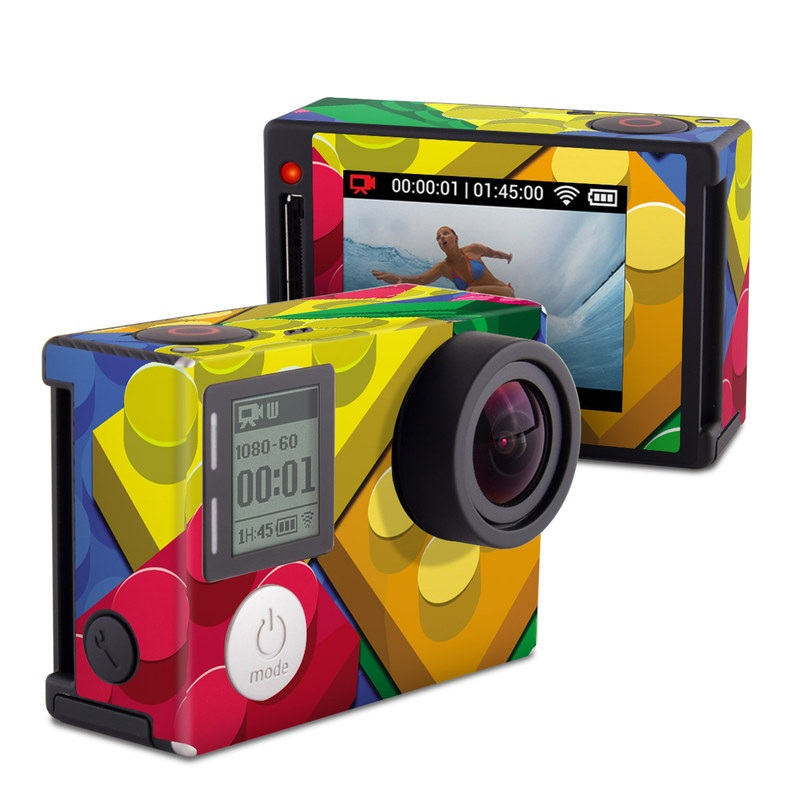 GoPro Hero4 Silver Edition Skin design of Colorfulness, Pattern, Circle, Games, Play with red, blue, green, yellow, orange, pink colors