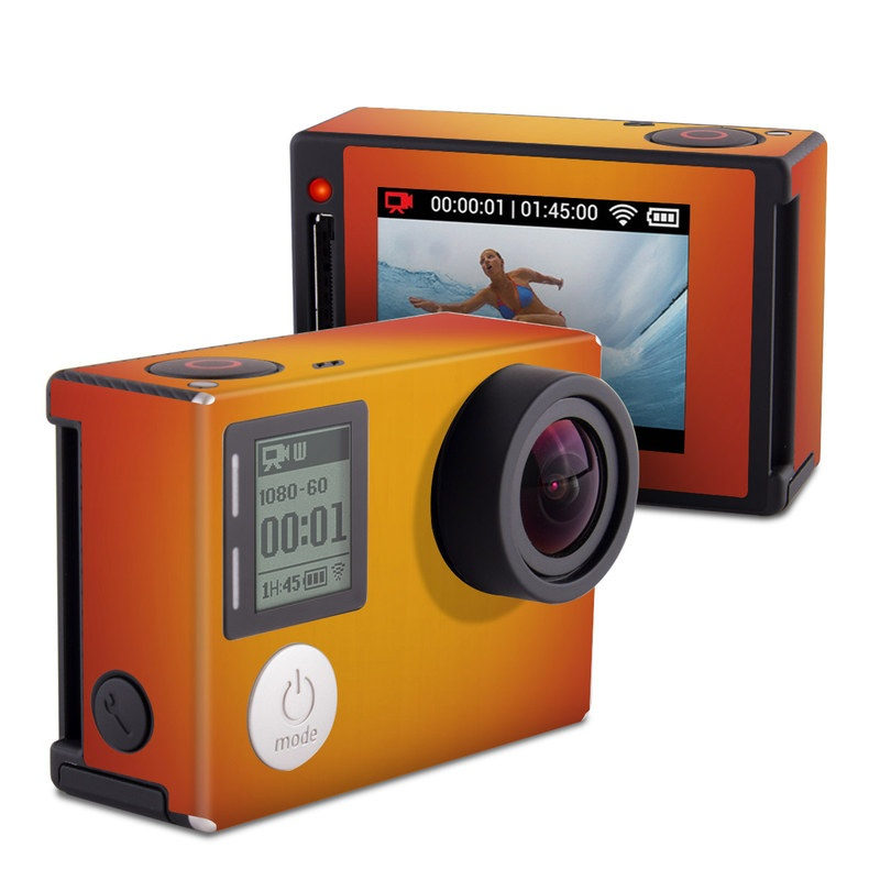 GoPro Hero4 Silver Edition Skin design of Red, Orange, Yellow, Green, Amber, Sky, Peach, Colorfulness with orange, yellow colors