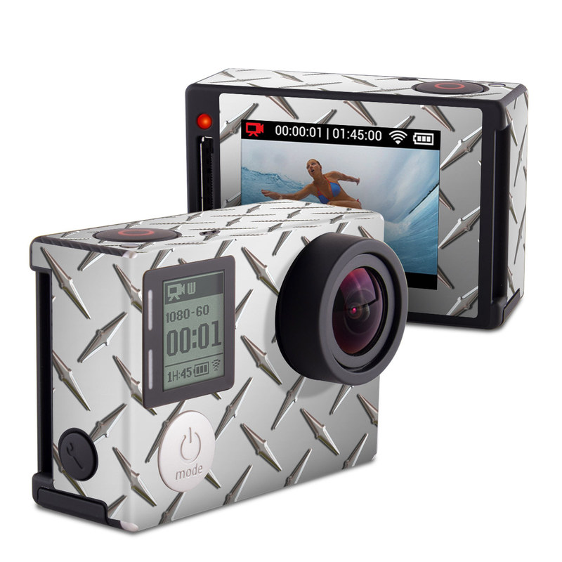 Diamond Plate GoPro Hero4 Silver Edition Skin