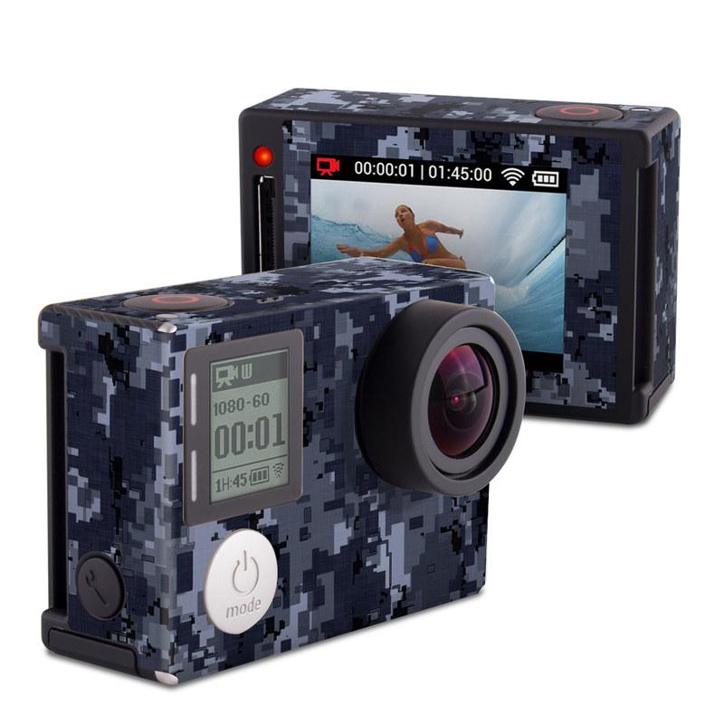 Digital Navy Camo GoPro Hero4 Silver Edition Skin