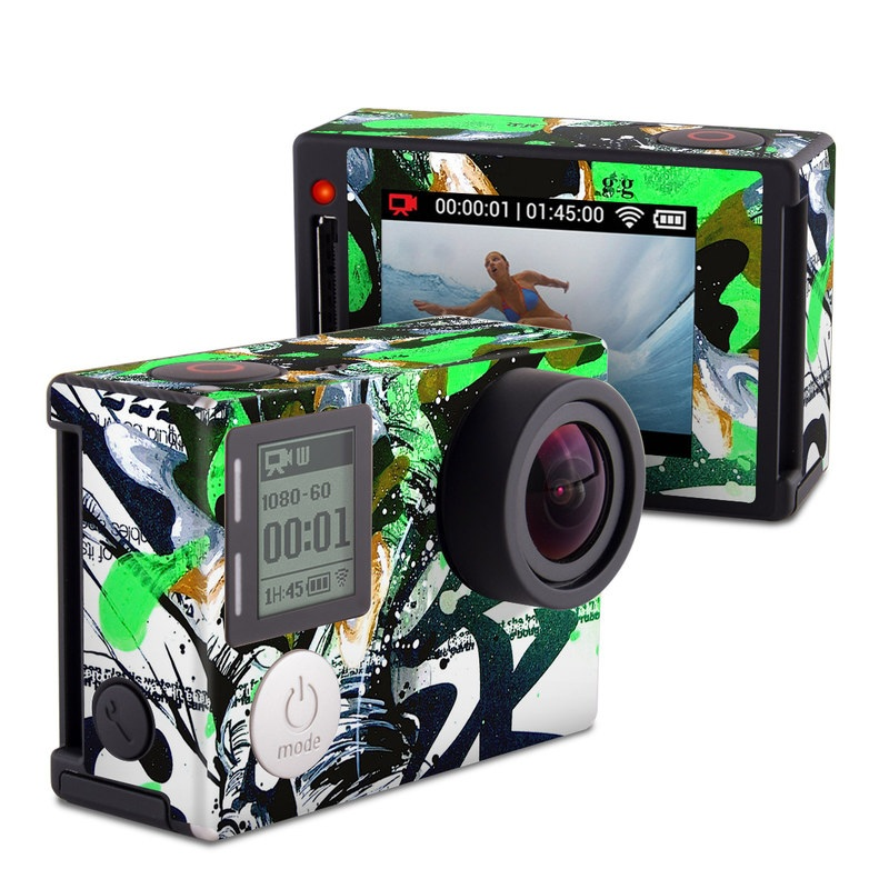 Green 1 GoPro Hero4 Silver Edition Skin